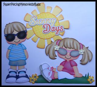 Sunny Days created by PAPER PIECING MEMORIES BY BABS, pattern by Cuddly Cute Designs