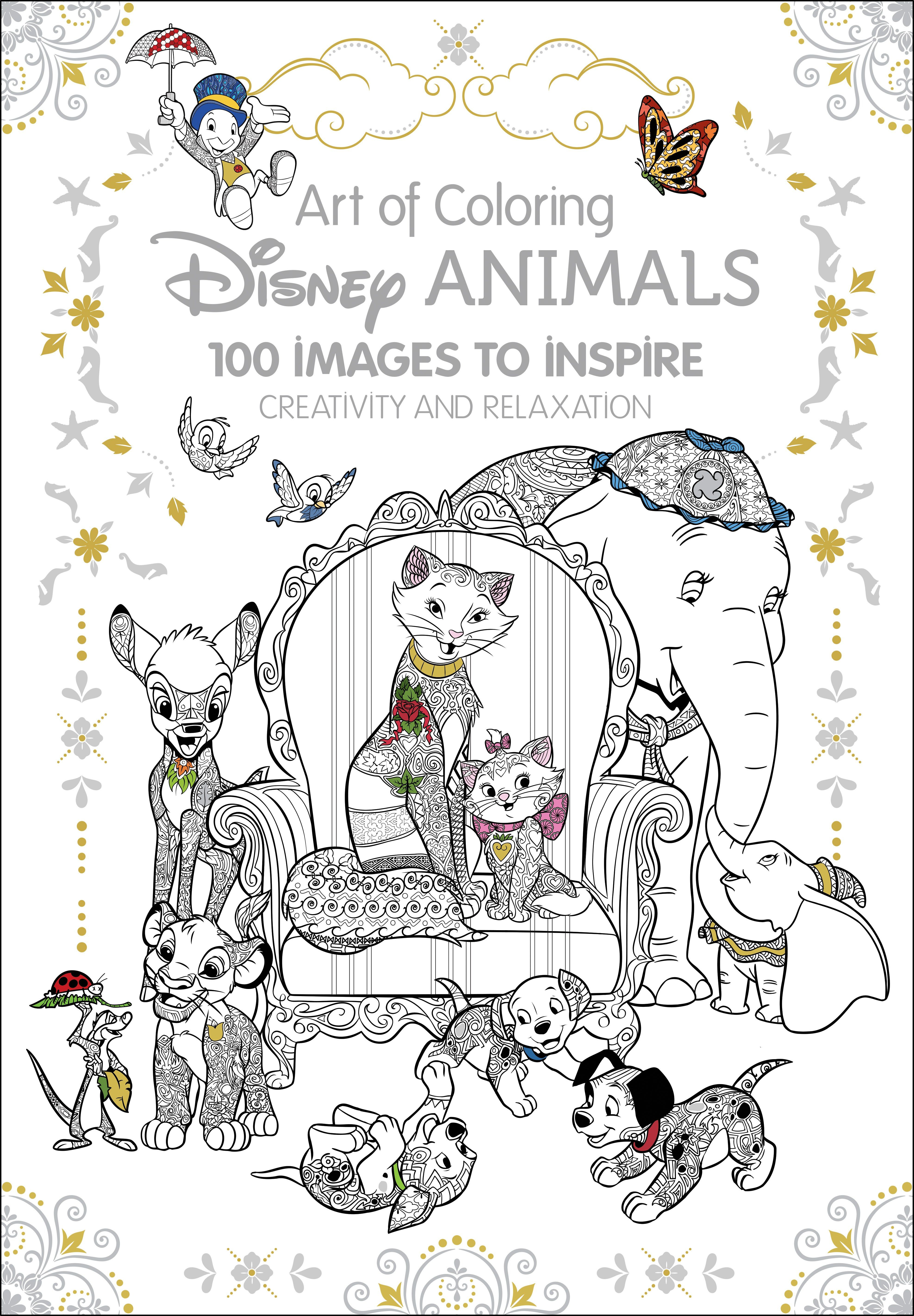 Coloring Books Art Therapy Disney Animals