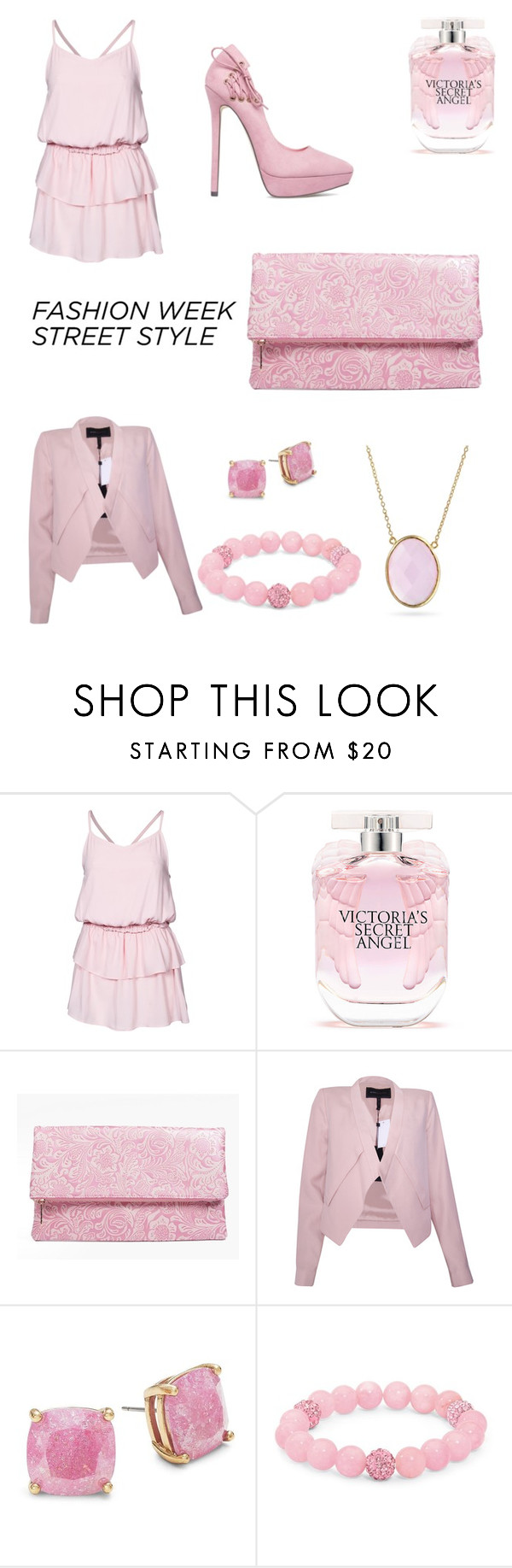 """""""Untitled #3"""" by skiconn ❤ liked on Polyvore featuring Rut&Circle, ShoeDazzle, Victoria's Secret, Boohoo, BCBGMAXAZRIA, Kate Spade, Palm Beach Jewelry and Bling Jewelry"""