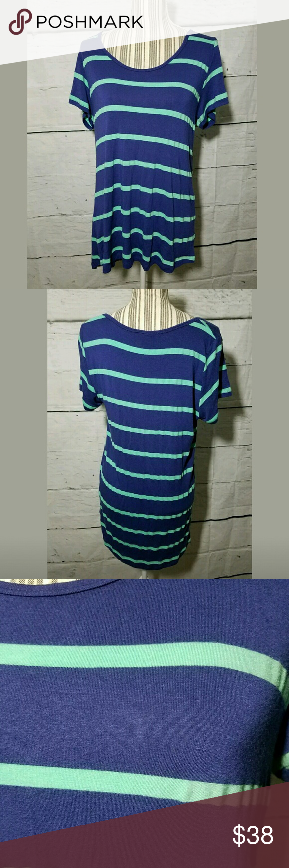 Lularoe Striped Classic Tee Tshirt Excellent used condition. No holes or stains.   20.5 inches pit to pit.  31 inches long in front.   AB LuLaRoe Tops Tees - Short Sleeve