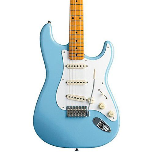 Fender Classic Series 50s Stratocaster Electric Guitar Daphne Blue Maple Fretboard Electric Guitar Guitar Classic Series