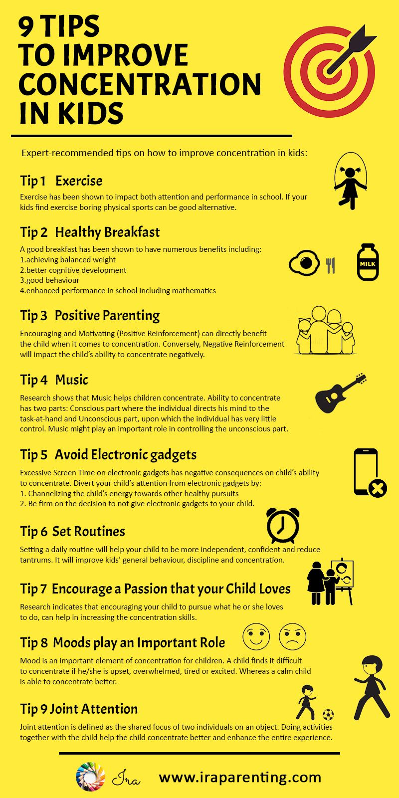 9 Tips On How To Improve Concentration In Kids Ira Parenting Help Kids Focus Kids Study Kids Focus