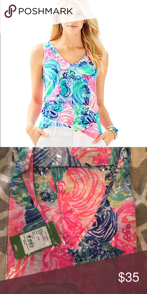144f4e8dae Lilly Pulitzer GiGi Tank Top XL Lilly Pulitzer GiGi Tank Top in Beach  Please. NWT. Love love love this tank top, and accidentally ordered two.  Size XL, NWT.