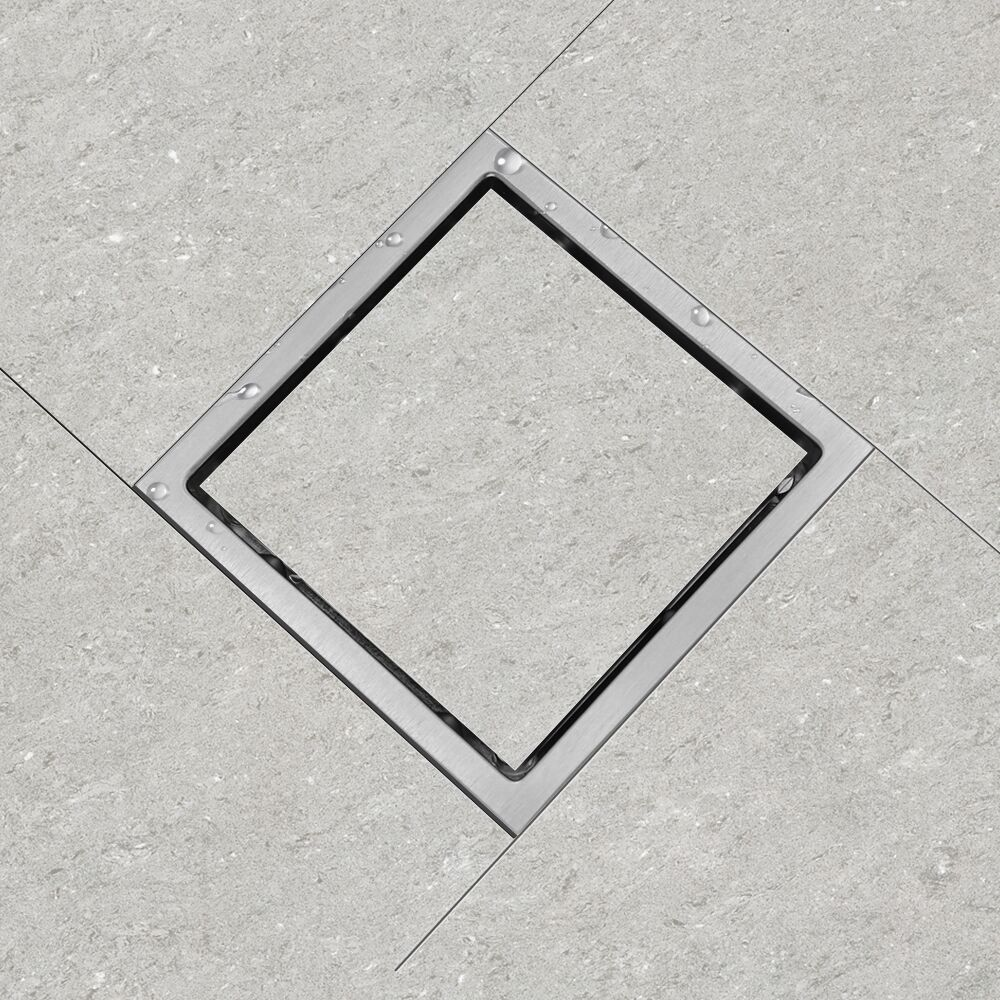 luckin tile insert bathroom floor drain square tile shower drain stainless steel hair catcher