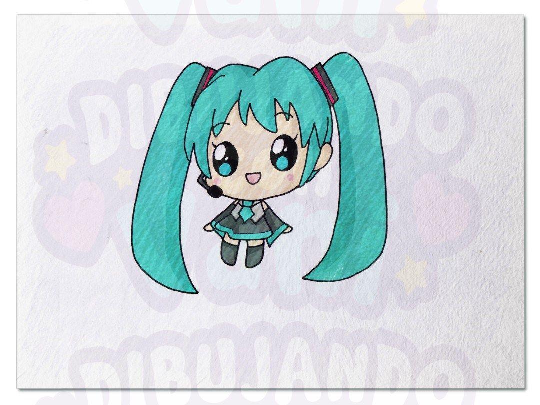 Pin De Dibujando Con Vani En Mis Pines Guardados Miku Kawaii Dibujos De Anime Dibujos Kawaii