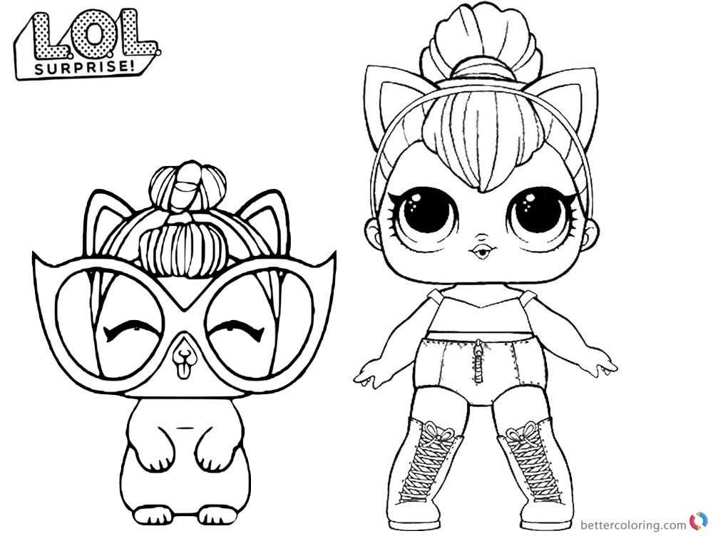 Lol Doll Coloring Pages Kitty Queen Pics