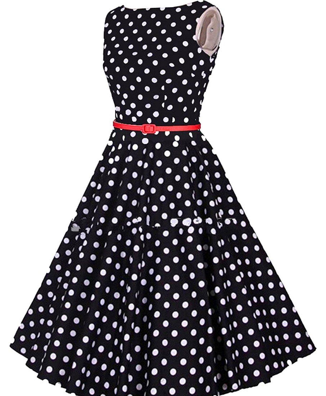 Alion womenus waist big swing polka dot dress hurry check out