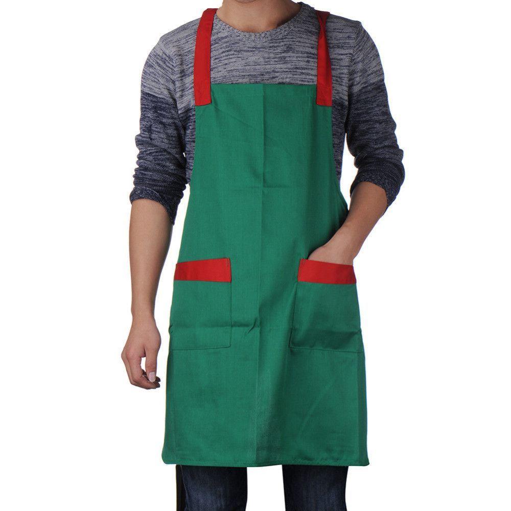 Korea Style Apron Polyester Cotton Super Market Bib Kitchen Cooking ...
