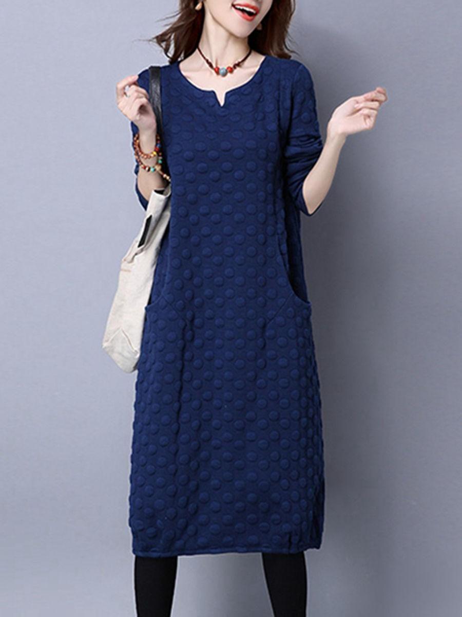 Fashionmia fashionmia vneck plain cotton blend maxi dress