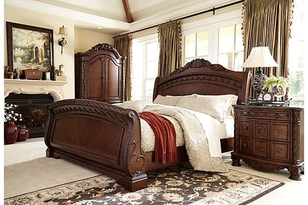 1 Bed 2 Night Stands Needed Dark Brown North Shore Nightstand View 6
