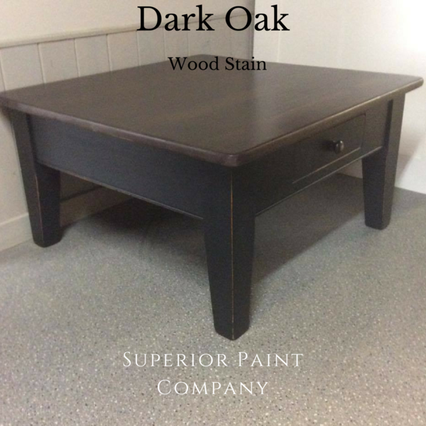 Saman Water Based Stain 4oz Staining Wood Stained Table Oak