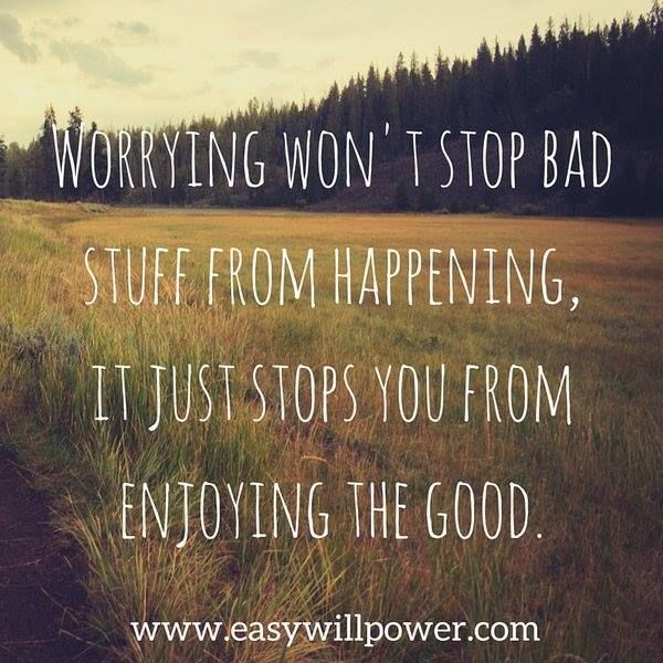 Worry can wreak havoc in your life. Find out how you can live more joyfully and peacefully right now! http://www.easywillpower.com/sign-up-10-day/?utm_content=buffera44fd&utm_medium=social&utm_source=pinterest.com&utm_campaign=buffer