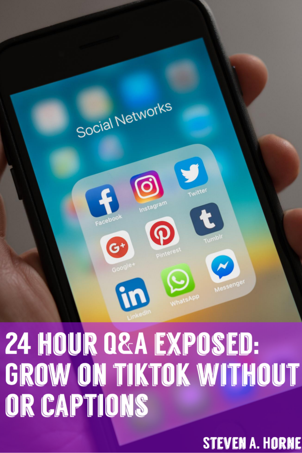 How To Grow On Tiktok Without Hashtags Or Captions Social Media Pinterest For Business Marketing Plan
