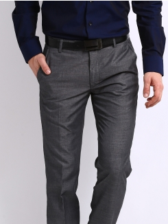 182ab3d1453 Buy 2 Black Coffee Men Dark Grey Regular Slim Fit Formal Trousers & Get 1  Free.