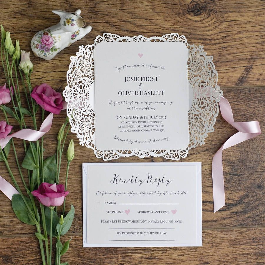 Alice Vintage Inspired Laser Cut Wedding Invite | Laser cutting ...