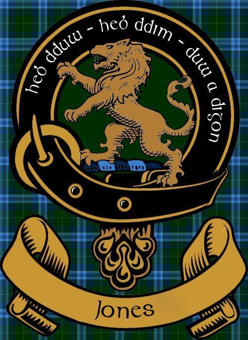 jones of wales tartan | Jones of Wales Clan Badge | TheJamesJones