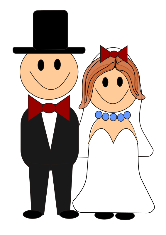 bride and groom graphics free this cute clip art of a cartoon rh pinterest ie bride and groom clipart vector clipart bride and groom silhouette