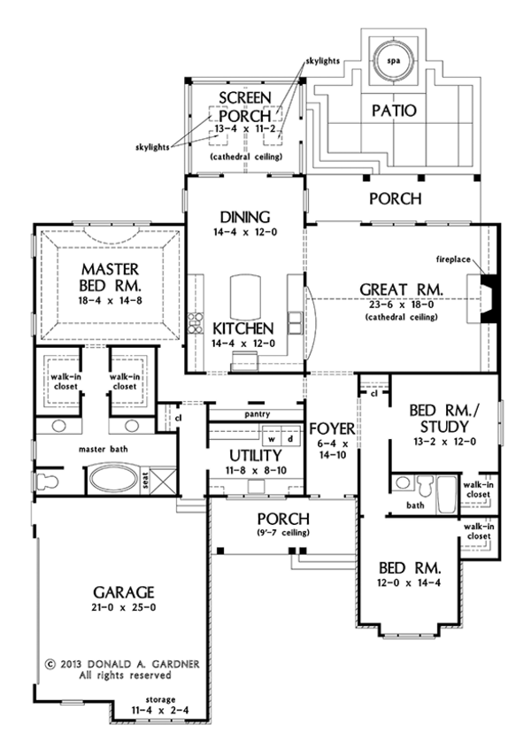 Craftsman Style House Plan 3 Beds 2 Baths 2291 Sq Ft Plan 929 972 In 2020 Craftsman Style House Plans Craftsman Floor Plans House Plans