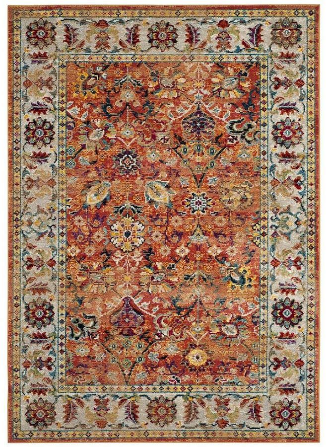 Savannah Orange 7 X 7 Square Area Rug In 2019 Products Rugs