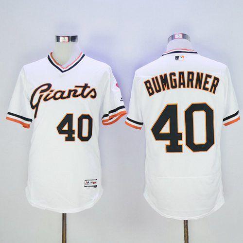 Men's San Francisco Giants Blank White Pullover 2016 Flexbase Majestic Baseball Jersey