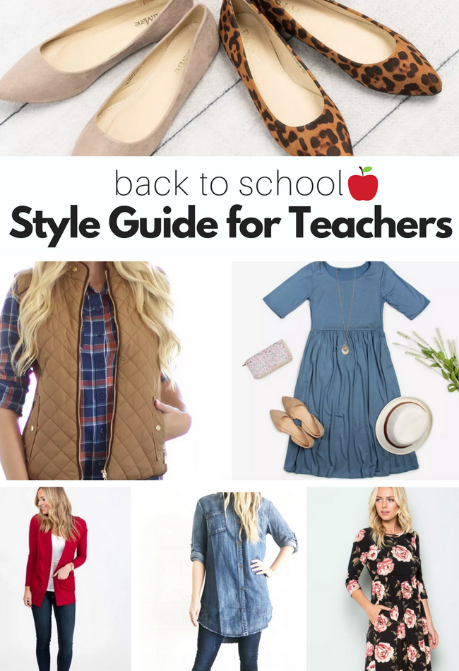 Back to School Style Guide For Teachers - No Time For Flash Cards