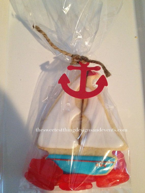Sailboat  cookie/Nautical Cookie by The by SweetestThingDesigns, $39.00