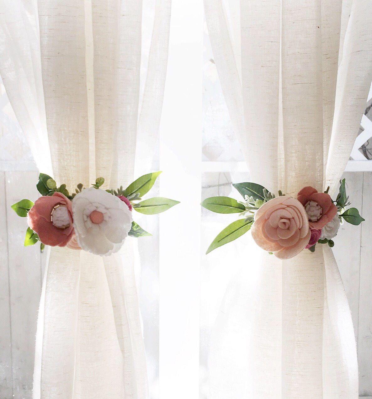 Floral Curtain Tie Backs.