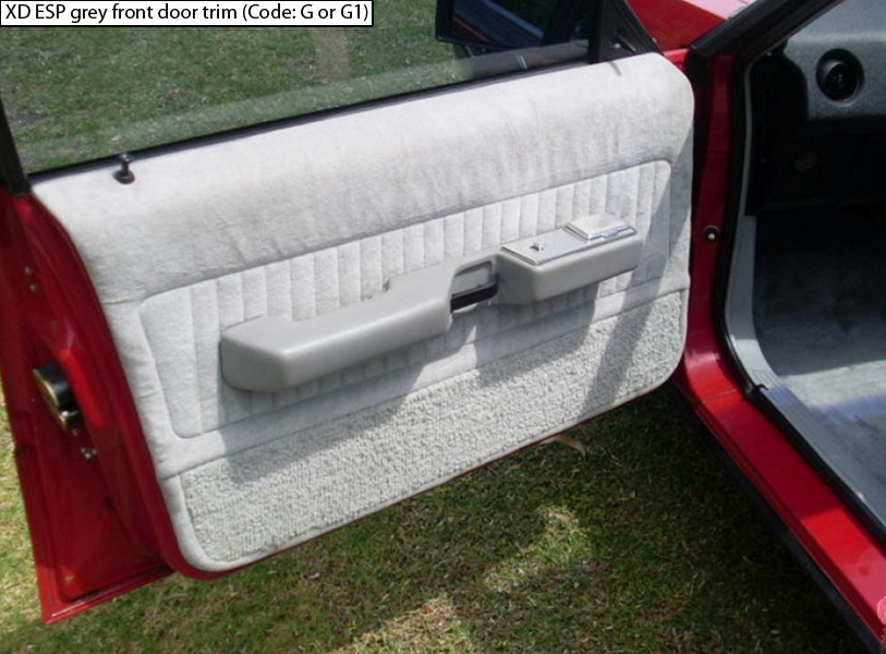 Ford Falcon XD ESP G or G1 grey door cards | Ford falcon ...