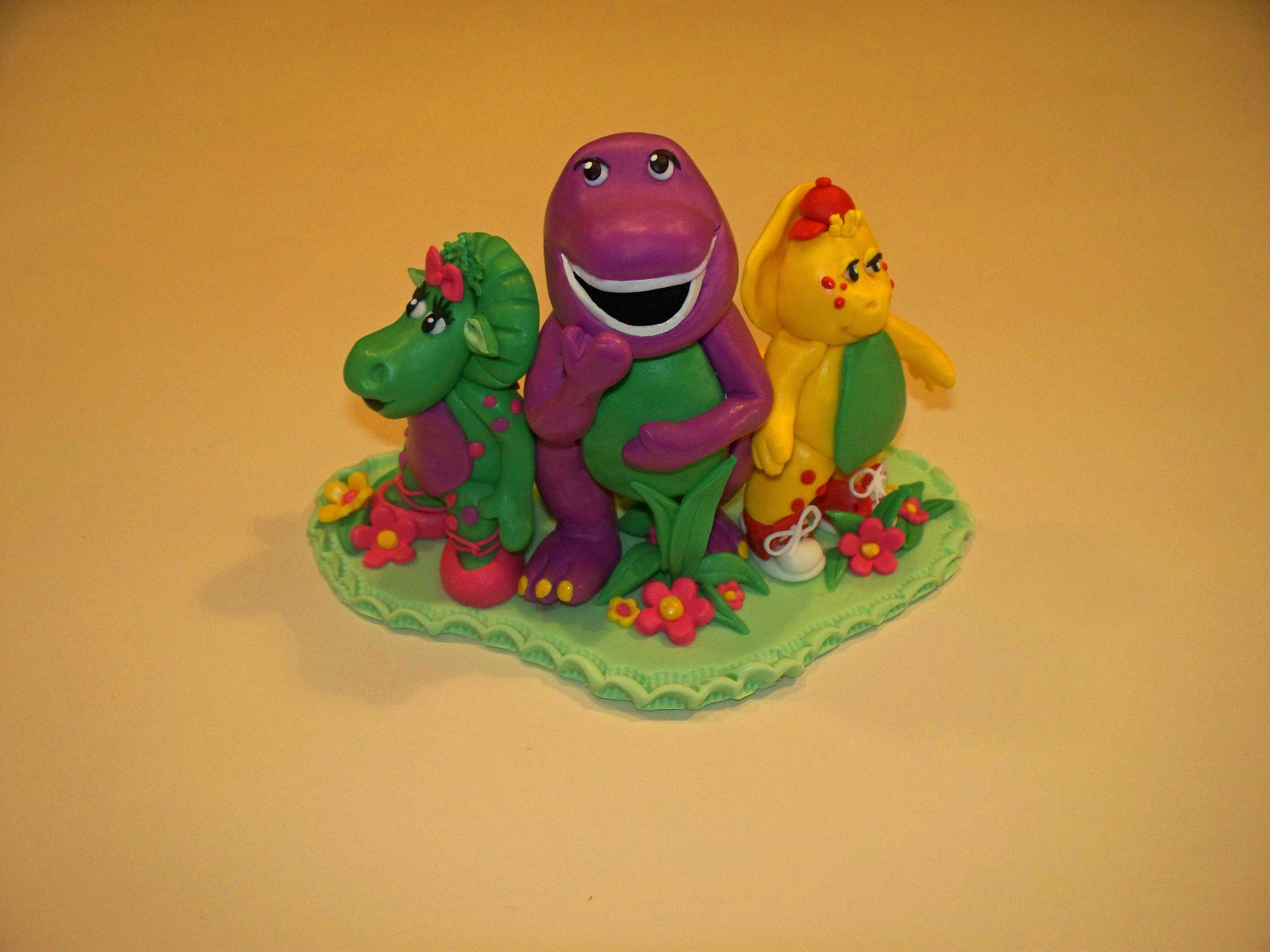 Fondant Barney Amp Friends Cake Topper Fondant With Tylose