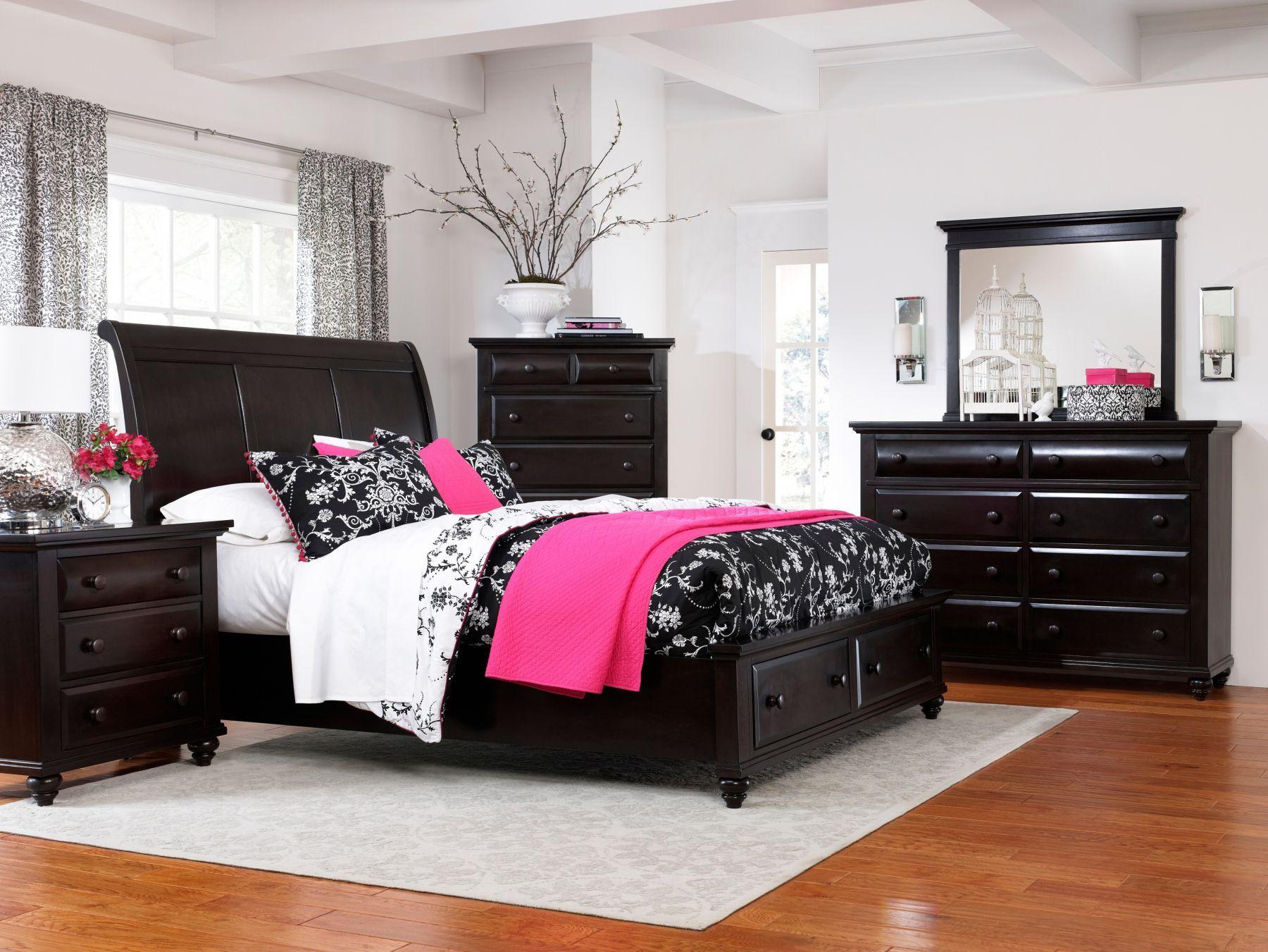 black for the master BR  Black bedroom furniture, Broyhill