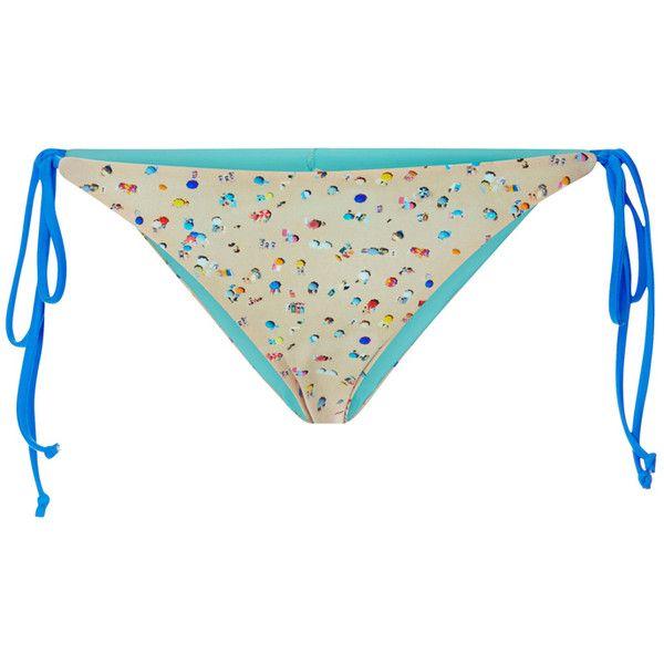 Basta Surf x Gray Malin String Bikini Bottoms (3,855 THB) ❤ liked on Polyvore  featuring swimwear, bikinis, bikini bottoms, bikini, thong bikini swimwear,  ... e83e51b2b4e1