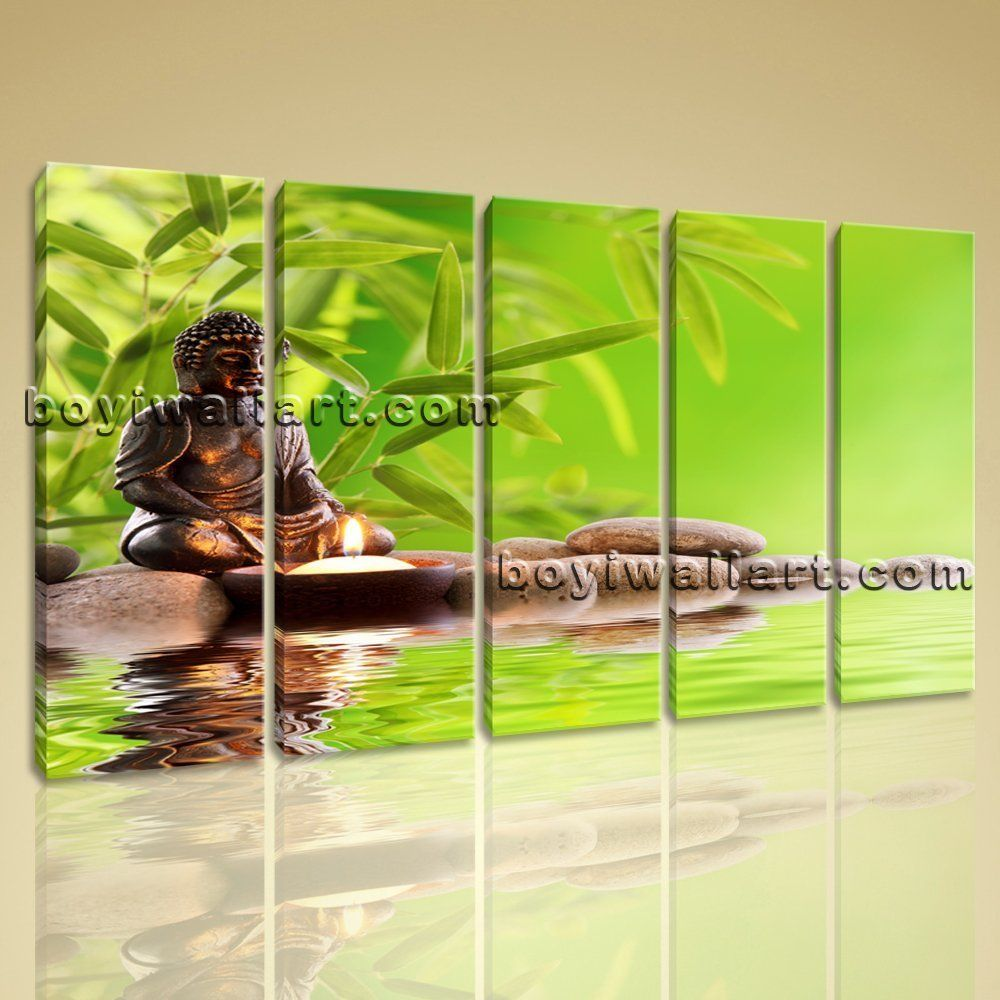 large buddha zen feng shui contemporary wall art printed on canvas