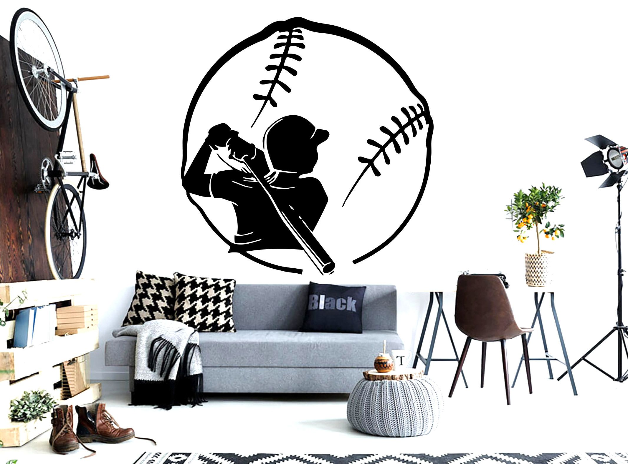 Baseball Wall Art Quote Personalized Gifts Custom Decal Wall Etsy Sports Wall Decals Baseball Wall Art Kids Room Wall Stickers