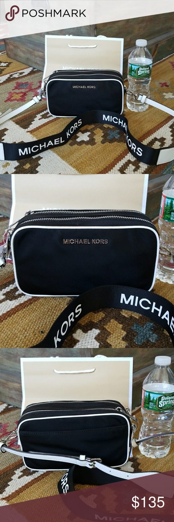8c384bffbd69 Michael Kors Connie Small Camera Bag Crossbody Adorable Brand New 100%  Authentic Michael Kors Connie