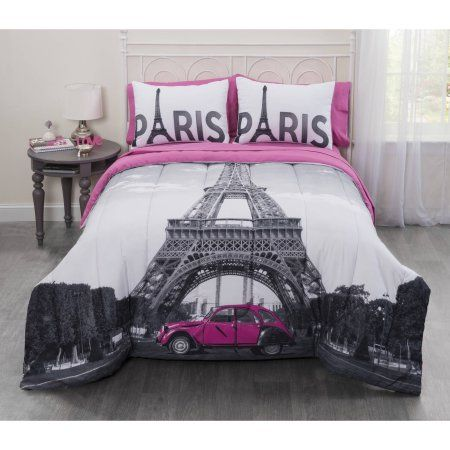 Casa Photo Real Paris Eiffel Tower Bed In A Bag Bedding Set Multicolor Paris Comforter Paris Themed Bedroom Paris Bedding