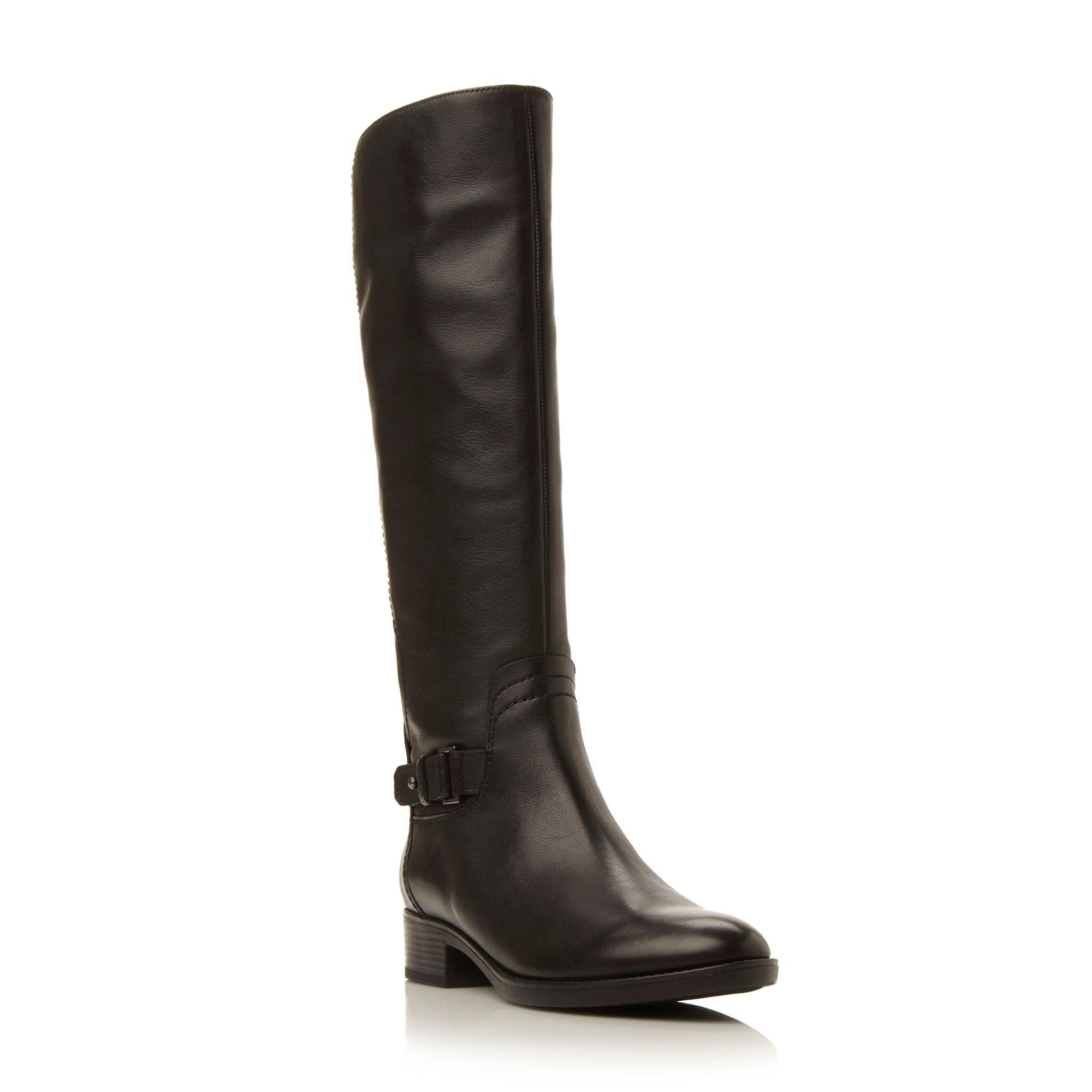 4e5251afc29 Geox Felicity lace back lace hi leg boots, Black Leather   Ladies ...