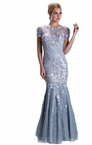 Passat Womens 80s Prom Dresses Mother Bride Size US14 Color Blue