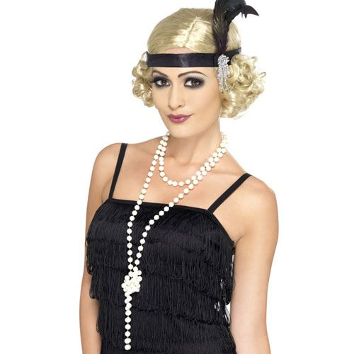 WOMENS FANCY DRESS ACESSORIES CHARLESTON FLAPPER COSTUME 1920/'S HEADDRESS KIT UK