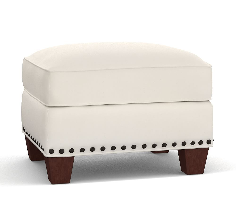 Excellent Irving Upholstered Storage Ottoman With Bronze Nailhead Theyellowbook Wood Chair Design Ideas Theyellowbookinfo