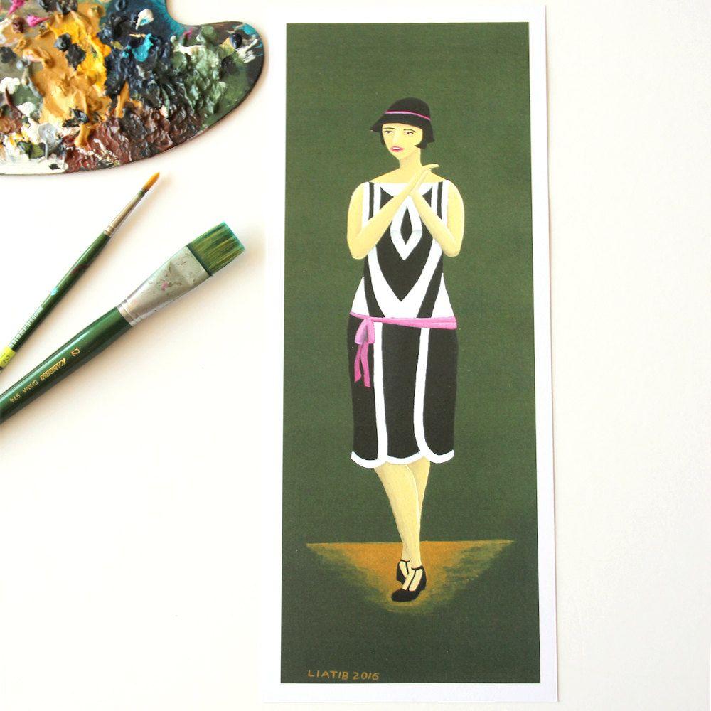 Illustration Print Of 20u0027s Girl Jazz Age Illustration Great As Design  Lovers Gift Art Housewarming Gift For Style Lover Fashion Illustration