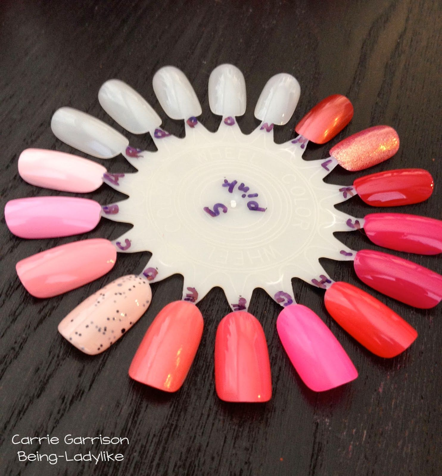 How to organize nail polish using swatch wheels from Sally\'s. It\'s ...