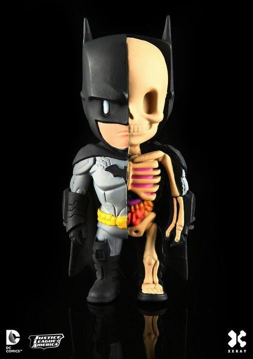 Batman Series 1 Vinyl Art Figure DC Comics XXRAY Free Shipping!