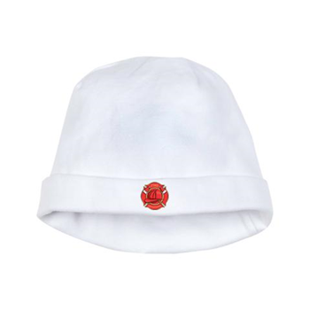 cf0e4232b6502 Firefighter Badge baby hat from cafepress store  AG Painted Brush T-Shirts.   baby  hat  fireman