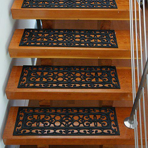 Best Outdoor Décor Rubbercal 6Piece Regal Stair Treads Rubber 400 x 300