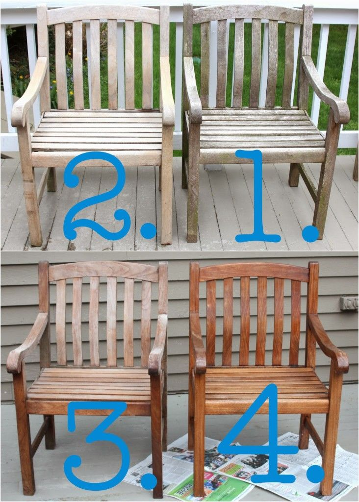 Can you believe that our table and chairs….. ….looked like this a short  time ago? With teak outdoor furniture, there are two directions you can go  – the ... - Cleaning & Sealing Outdoor Teak Furniture Casa Mia Pinterest