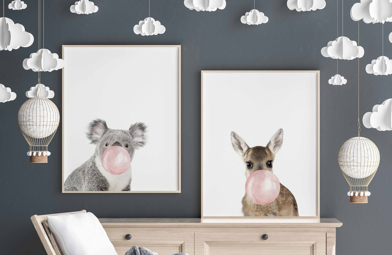 Baby Koala Print Nursery Animal
