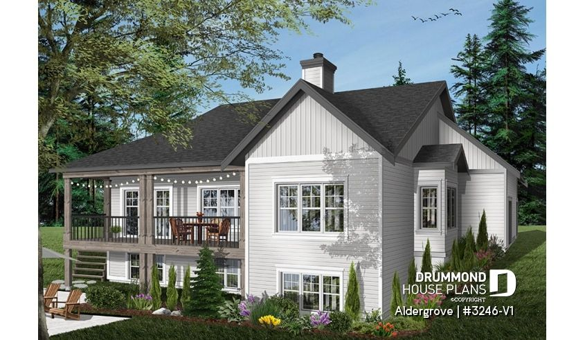 house plan Aldergrove No. 3246-V1 | Craftsman style house ...
