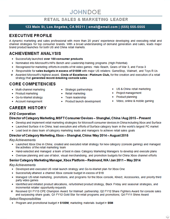 Marketing Director Resume Examples Professional Resume
