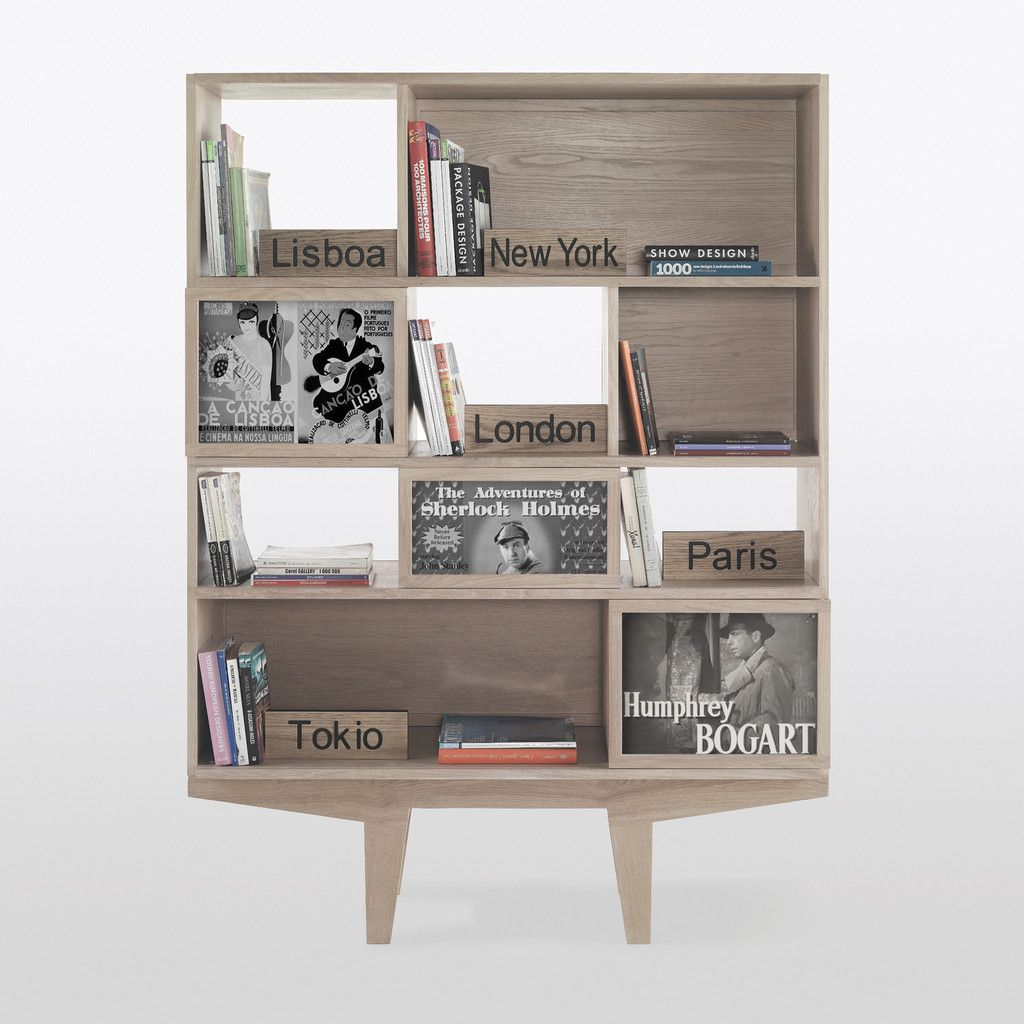 WEWOOD Face to Face Bookcase, medium, in oak