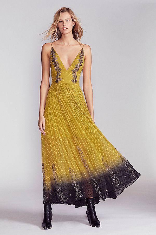 Slide View 1: Dip Dye Embellished Maxi Dress